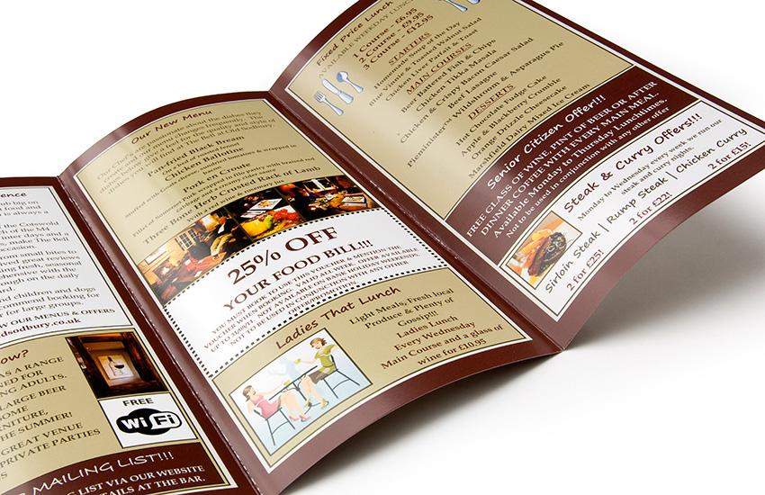 menus and flyer printing