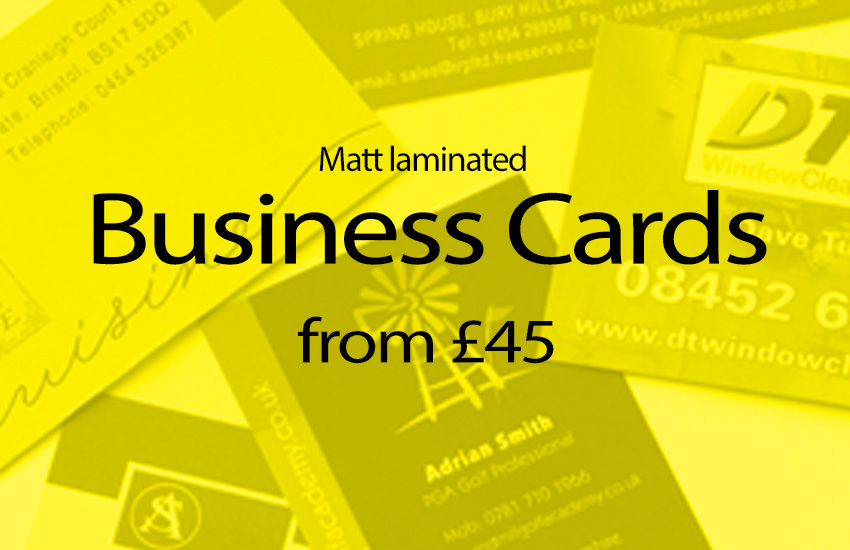 Business card printing offer